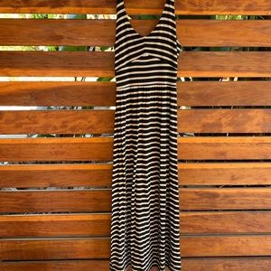 Striped Anthropologie maxi dress